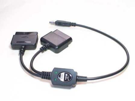 即決980円!usb-PS2コントローラー変換アダプターケーブル