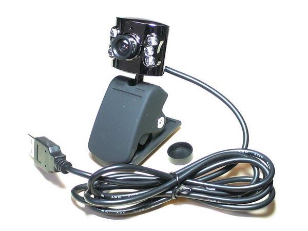 #010【感謝特価】ウェブカメラでSkype!6LED付USBカメラ★
