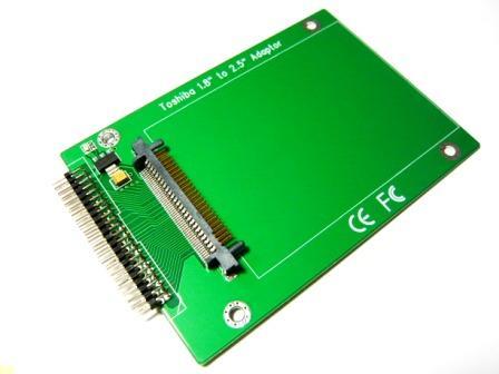 東芝1.8インチHDDto2.5インチIDE変換アダプター